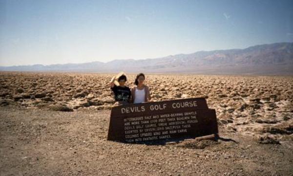 デスバレー国立公園で、娘と、
