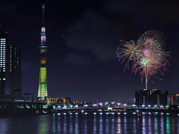 最初の花火大会は「隅田川大会」
