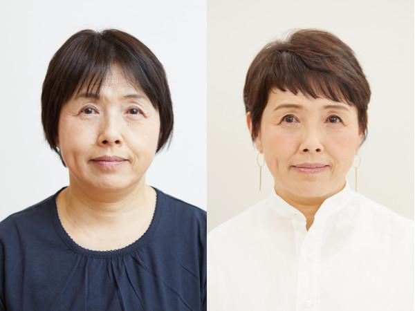 佐々木恵子さん(61歳):ぽっちゃり丸顔ショート・ビフォーアフター