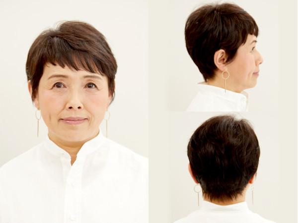 ぽっちゃり丸顔さんにおすすめのショートヘア