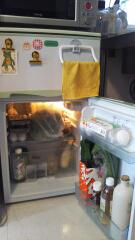 ミニサイズ冷蔵庫の中はこれだけ