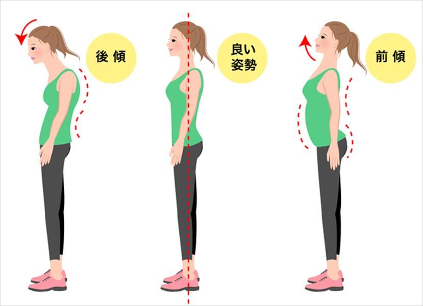 猫背や反り腰を改善して正しい姿勢に!