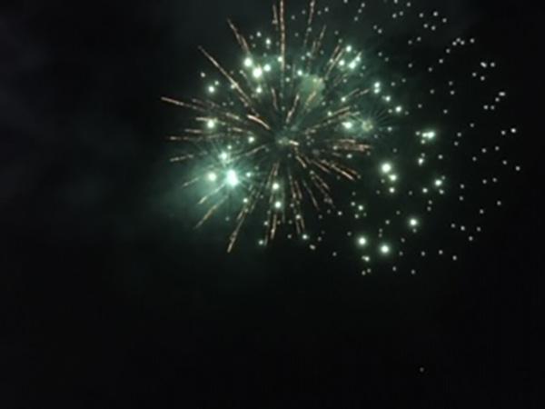 夜空に開く花火