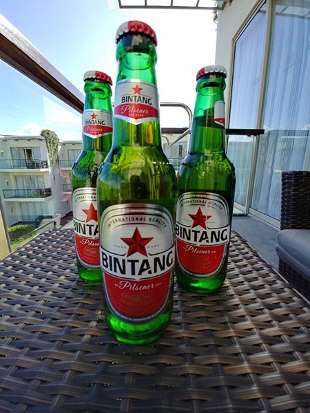 インドネシアのメジャービールといえばビンタンビール!あっさりと軽い口当たりで飲みやすいです。