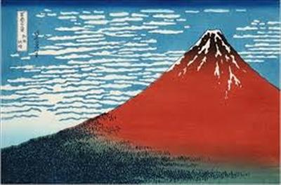 「赤富士」と呼ばれる「凱風快晴」
