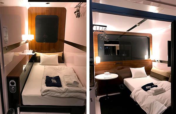 (左)ビジネスキャビンは13部屋(右)ファーストキャビンは3部屋