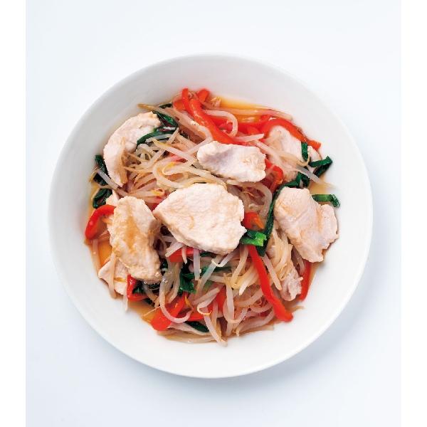 鶏ムネ肉と野菜のフライパン蒸し
