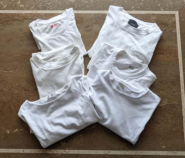 シンプルな白Tシャツほど選ぶのが難しい
