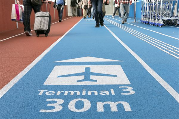 成田空港の第3ターミナルはLCC専用。第1、第2に比べるとかなり不便な立地