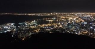 ケープタウンの夜景