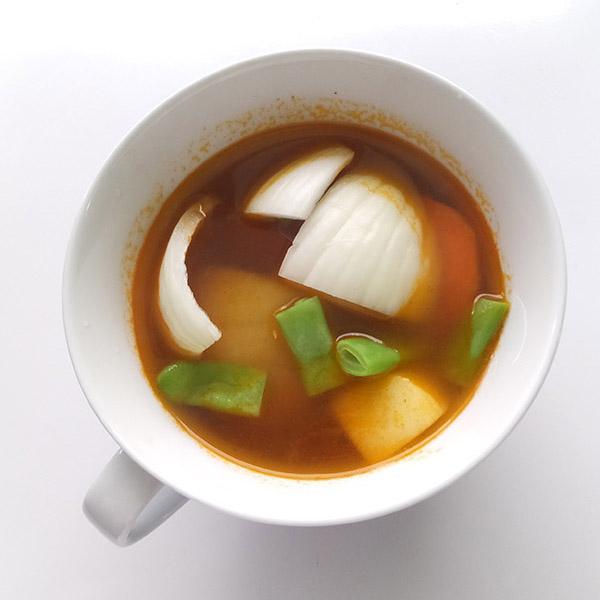 マグカップで簡単「ビーフシチュー」の作り方