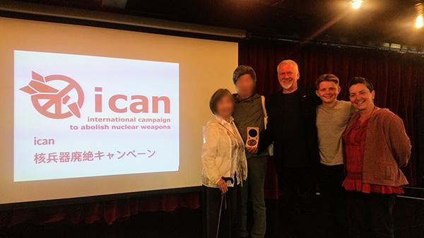 2017年にノーベル平和賞を受賞したICAN設立メンバー デイブ・スウィーニーさん御一家