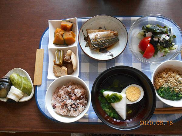私が作ったある日の昼食