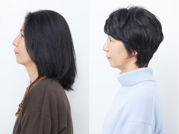 イメチェンビフォーアフター(髪型):サイド