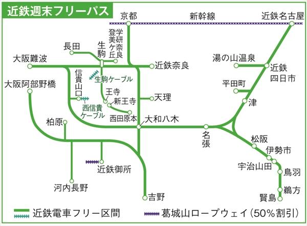 私鉄としては日本で一番広域で使える近鉄のフリーきっぷ