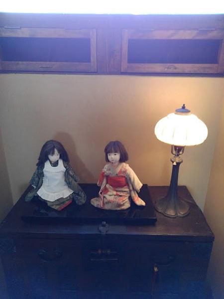 飾られている人形たち