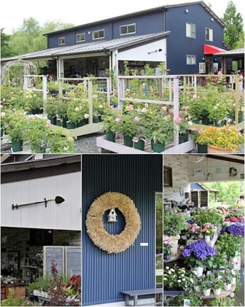 ガーデングッズや苗、お土産やグッズも販売