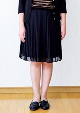 服を捨てる基準5:ひざが出るスカート