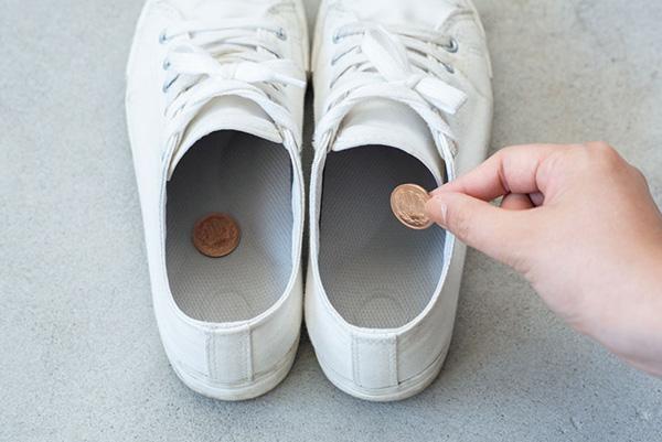 体臭改善アイデア15:におう靴には10円玉を入れる
