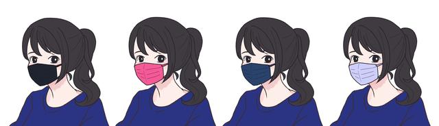 【ウィンタータイプ(ブルべ冬)】に似合うマスクの色