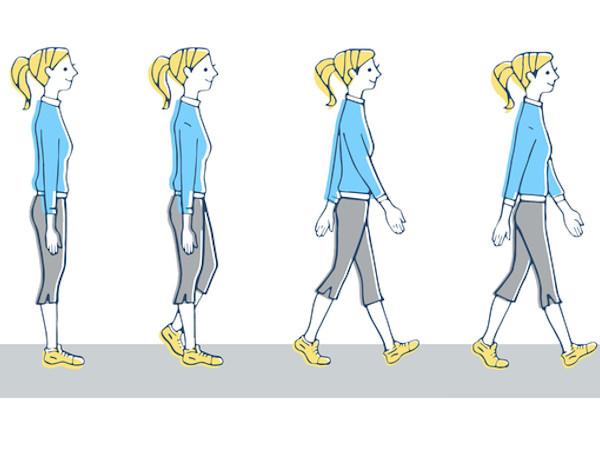 1日5分の小股歩きで歩き方のコツをつかもう