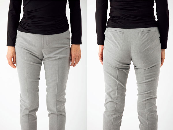 おしゃれのコツ3:パンツはウエストより下、腰で履く