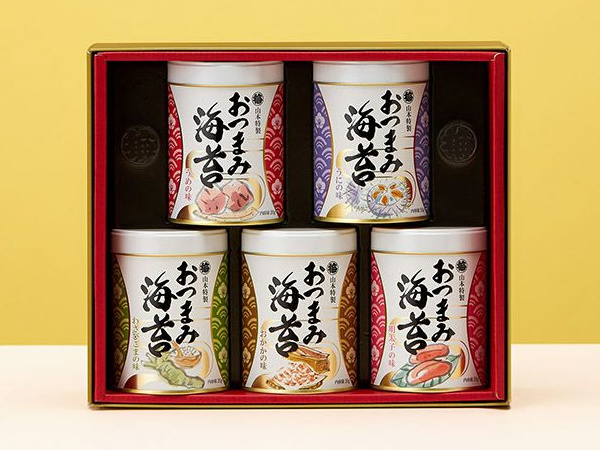 おつまみ海苔5缶詰合せ 3,240円(税込)