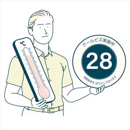 クールビズの28℃は、エアコンの設定温度ではない!