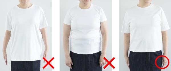 シンプルな白Tシャツで比較