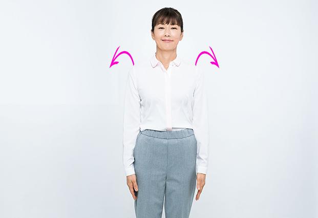 たるみを取るくるくる耳たぶ【ステップ1】肩回りをゆるめるやり方4