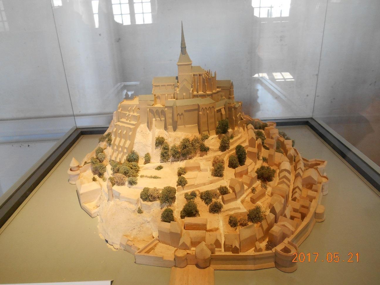モン・サン=ミシェルの全景模型