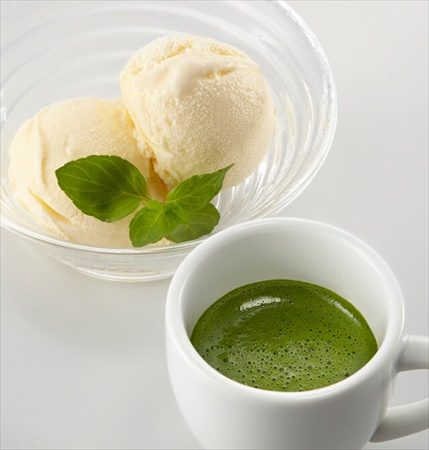 抹茶アフォガードのレシピ