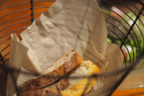 熊澤酒造のモキチトラットリア自家製のもちっとしたパン