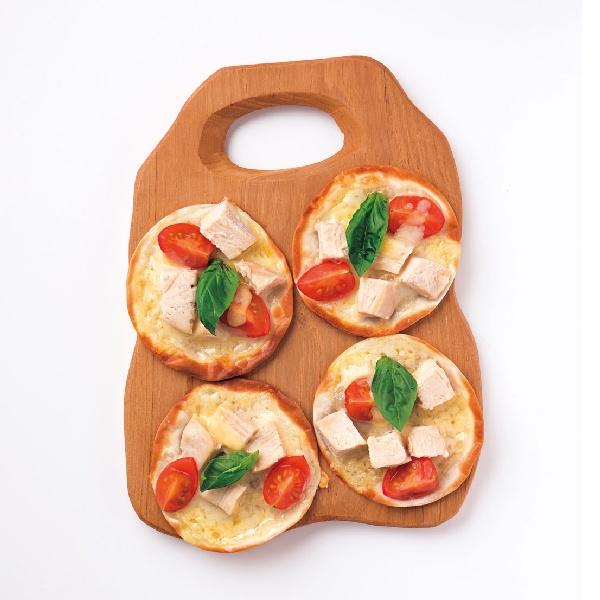 サラダチキンの一口ピザ