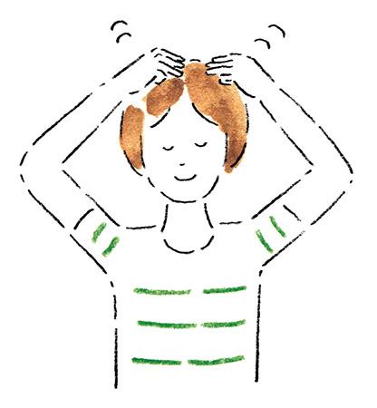 自律神経を整えるアイデア8:顔や頭をタッピングする