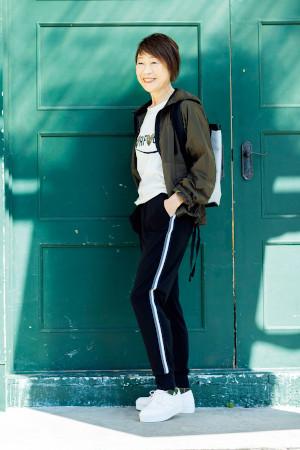 70代女性のジムファッション:田野倉和子さん(72歳)
