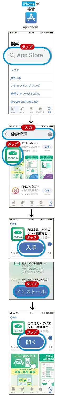 iPhone の場合:App Store
