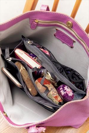 バッグ活用アイデア1:インナーポーチで機能的に