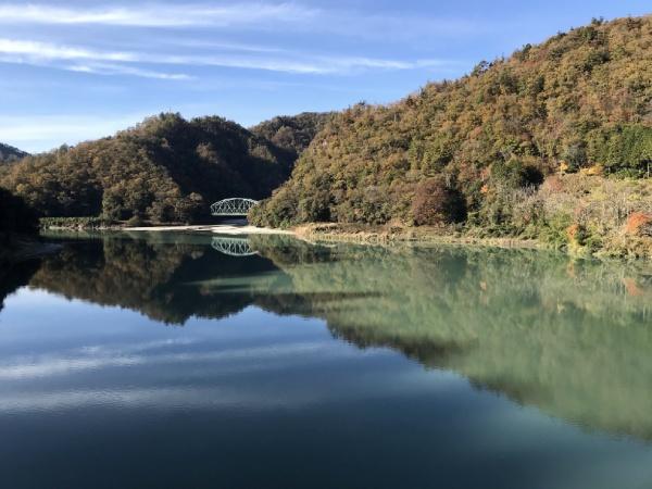 為栗駅から歩いてすぐの天龍橋から見た景色