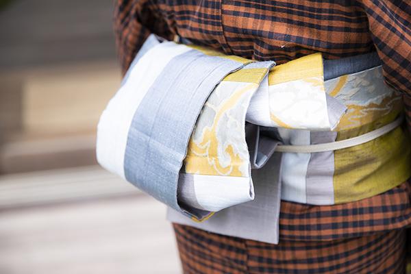 江波戸玲子さんの着物の帯