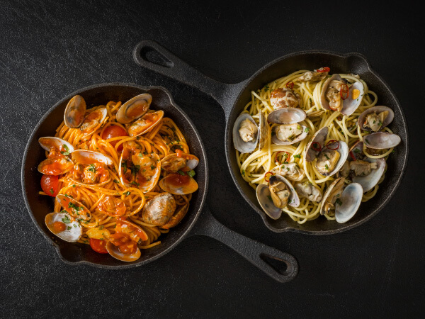 ナポリ名物、アサリを使ったパスタ「スパゲティ・ボンゴレ」