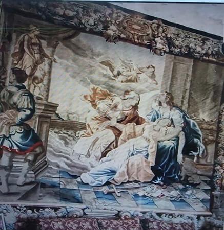 王宮の中のタペストリー