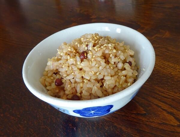 玄米の小豆ご飯