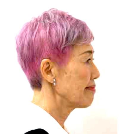 グレイヘアのカラー見本:パープルやピンク