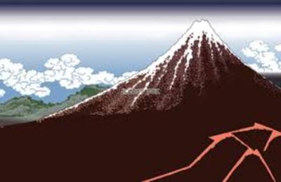 「黒富士」と呼ばれる「山下白雨」