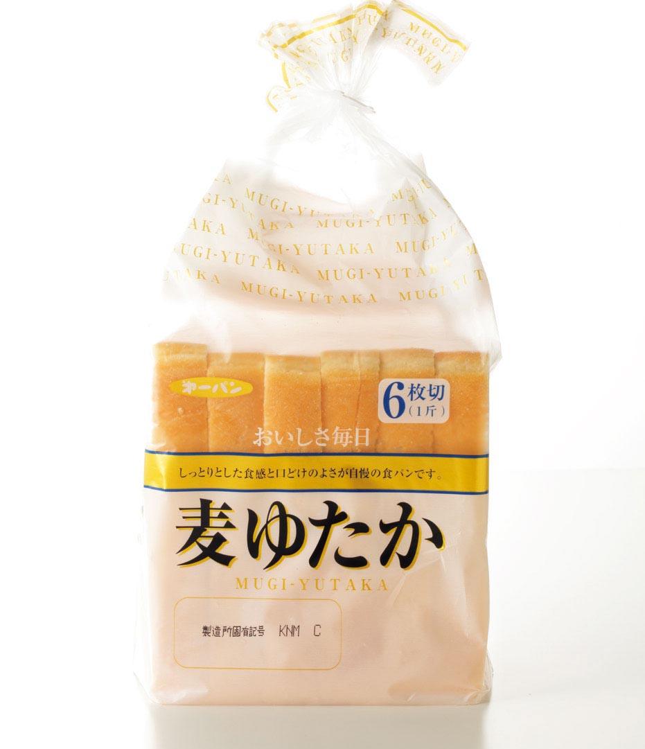 麦ゆたか(第一パン)は、唯一さっぱり軽い塩味。サクサクッと食べやすい!
