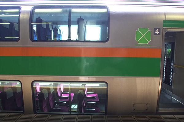 上野東京ラインのグリーン車部分。2階席をよく利用する