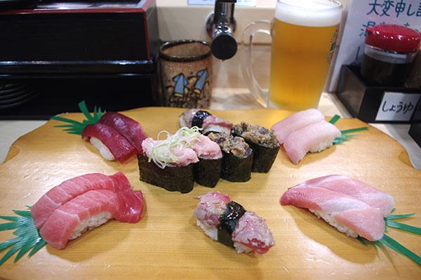 廻転寿司 海鮮のまぐろ満開セット