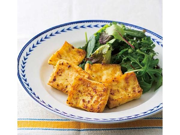 冷凍豆腐のジューシーステーキ