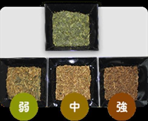 ほうじ茶は焙煎時間によって香り・味が変化する